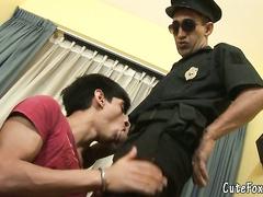 Mouth interrogation for unruly  boy Fox