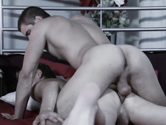 Cumming inside of an asshole of a gay friend