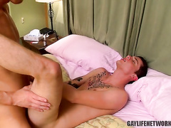 Riding large dick and enjoying great orgasm