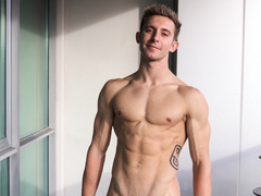 Young twink shows off sexy body and hot dick masturbation action