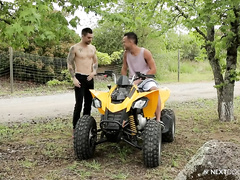 Walk on quad bike ended with passionate bareback gay fuck
