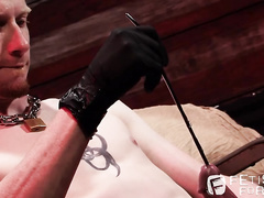Kyle Wood plays hard bdsm games with his own cock