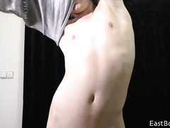 Webcam twink is pleasantly jerking off his dick to the cam