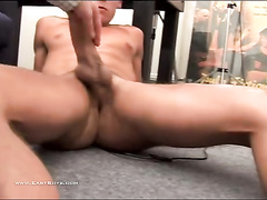 Big gay cock sticks after the hard masturbation