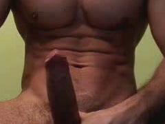 Cam records closeups of cock producing the semen